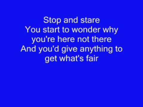 Official One Republic - Stop and stare -  lyrics