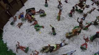 Солдатики игрушки играть с детьми игра как мультики лего роботы война про солдатиков Форт Техас 206