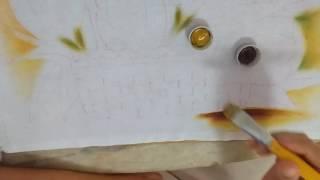 Ensinando a pintar tulipas vermelhas com Lia ribeiro 1