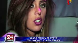Modelo peruana se divirtió con jugador neozelandés tras la derrota ante la 'Bicolor'