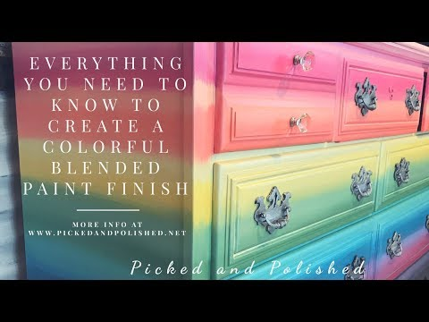 Everything You Need to Know to Create a Colorful Blended Paint Finish