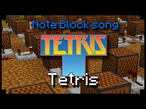 ♫ Tetris theme - Minecraft Note block song !