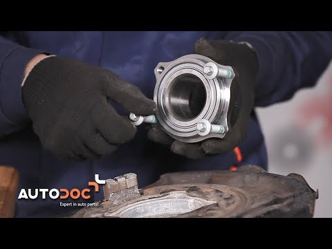 How to replace rear wheel bearing MERCEDES-BENZ E W211 TUTORIAL | AUTODOC