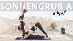 Yoga Sonnengruss Anfänger Routine | 6 Runden Surya Namaskar A Morgenroutine