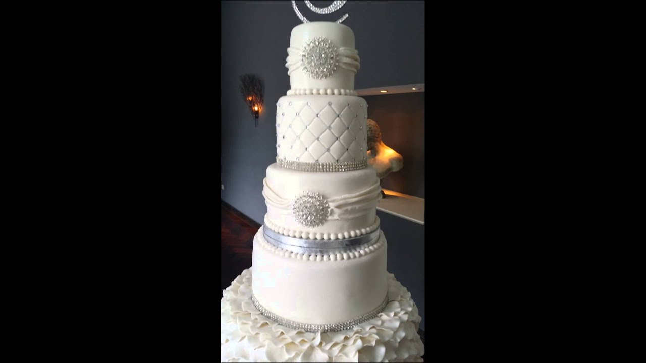 Romantic Ruffled Wedding Cake By Keekjes Nl Youtube