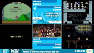 Super Mario World 96 Exits by Various Runners in 1:24:50 - Awesome Games Done Quick 2016 - Part 87