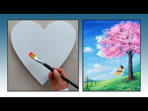 10 Super Easy Landscape Scenery Painting Ideas For Beginners – Scenery Painting tutorial ► part #27
