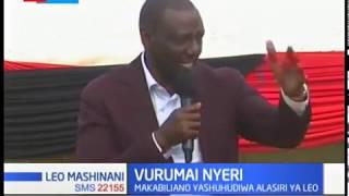 Vumurai Nyeri: Makabiliano kati ya wafuasi wa Ngunjiri na wa Naibu Rais yashuhudiwa alasiri leo