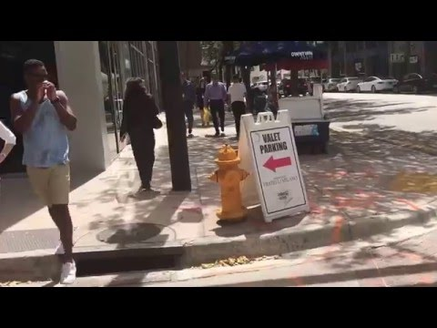 Walking in Downtown Miami
