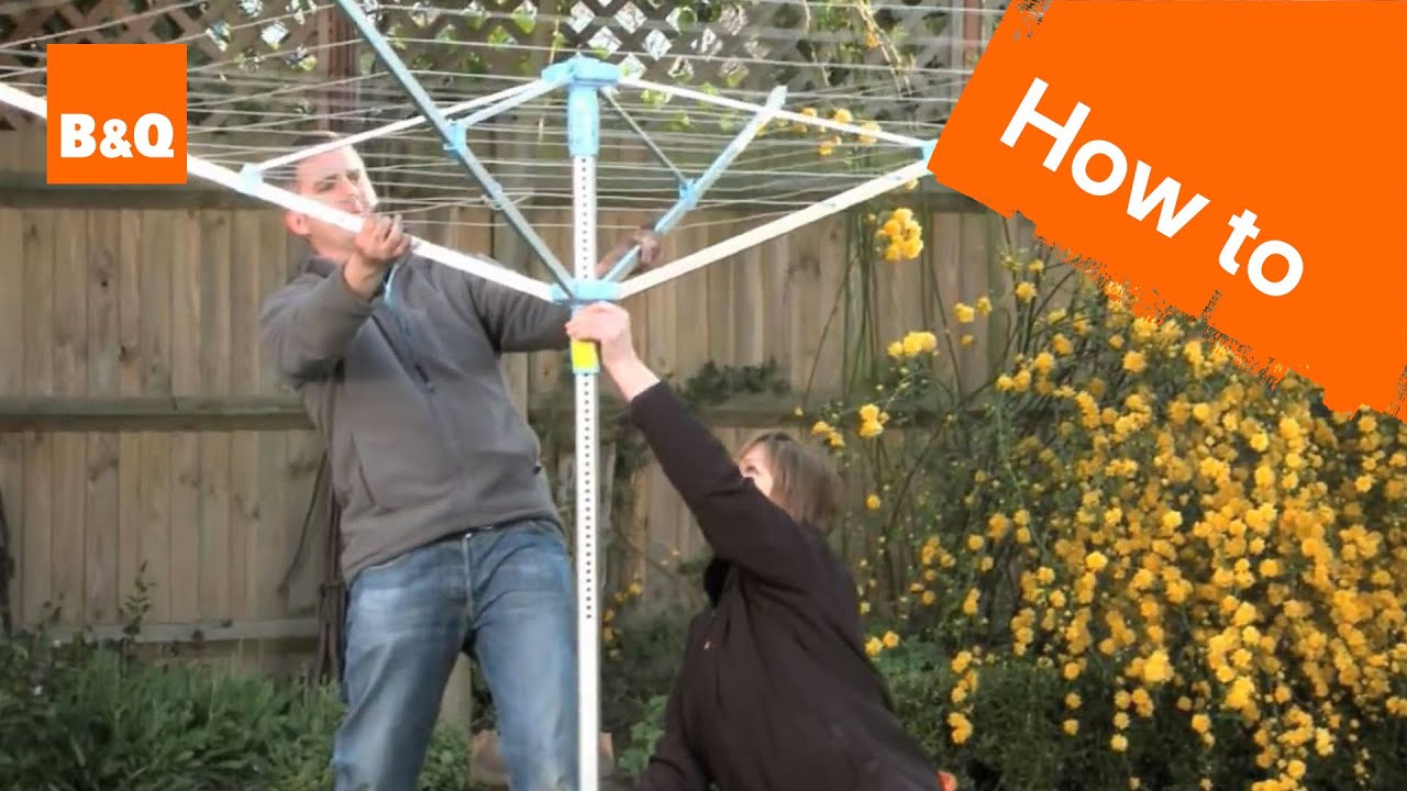 How To Install A Rotary Airer You, Round Clothesline Pole