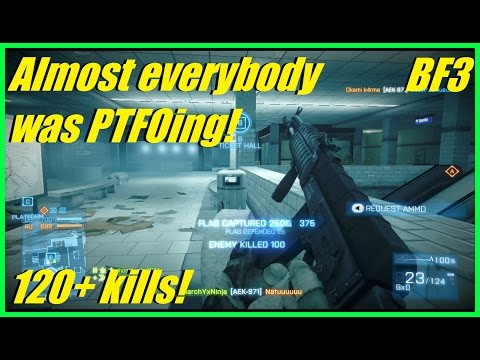 BF3 - Finally found a great server! | Intense metro match! | 120+ kills! (AEK)