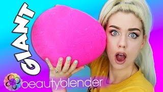 GIANT DIY BEAUTY BLENDER SQUISHY! Worlds Largest Real Beauty Blender