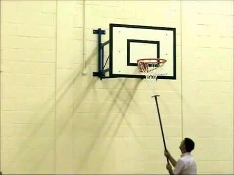 Wall Mounted Practice Indoor Basketball Goals - YouTube