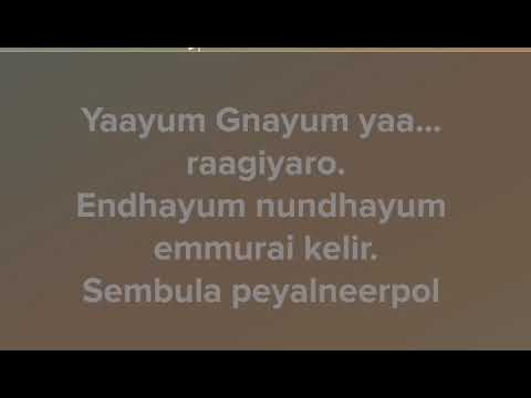Yaayum Full song with lyrics (From