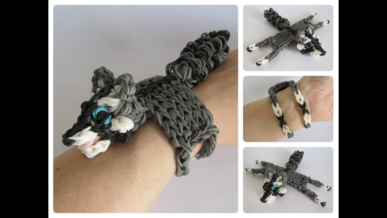 Rainbow Loom raccoon bracelet Loombicious - YouTube - photo#23