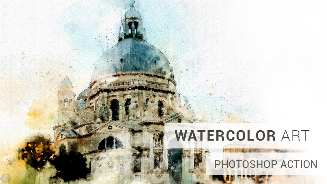 Realistic Watercolor Photoshop Action Tutorial Youtube