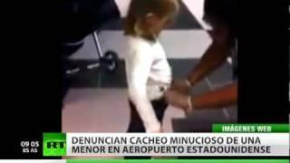 Estadounidenses indignados por cacheo a niña