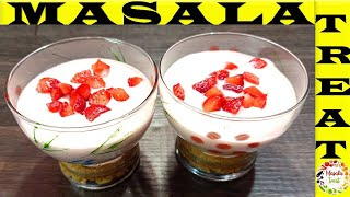 strawberry cheesecake without Gelatin  Strawberry cheesecake in Glass  Glass cake recipe in Tamil