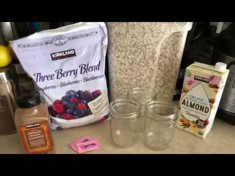 Triple Berry Overnight Oats 3 Weight Watcher SmartPoints!!!