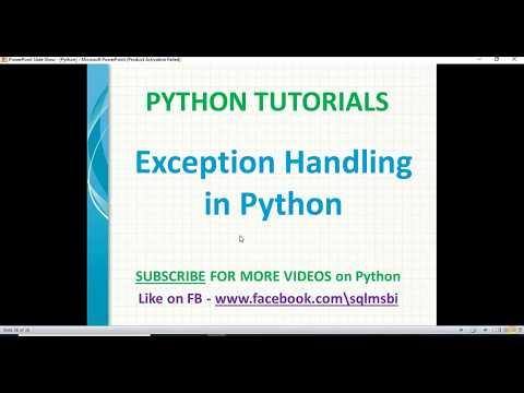 Python Tutorials | Exception handling in python | python exceptions | python error handling thumbnail