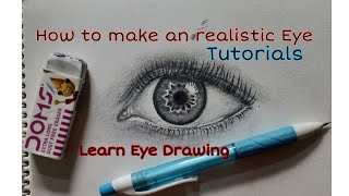 how to make an realistic eye  Eye drawing  Step by step tutorial  the power of clay