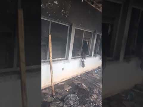 The burning down hostel of plateau state polytechnic BARKIN LADI,.