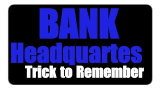 simple trick to remember bank headquarters   sure 1 question in ibps   sbi exams