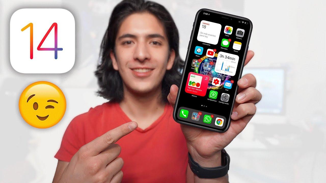 Probé lo MEJOR de iOS 14 en mi iPHONE