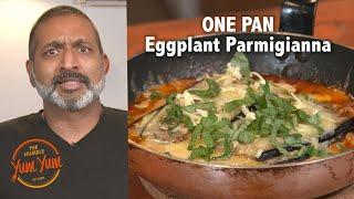 One-Pan Eggplant Parmigiana. Recipe in Description below.