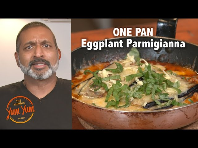 One-Pan Eggplant Parmigiana. Recipe in Description below.