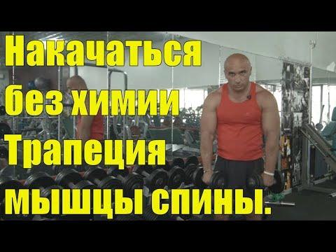 Мышцы спины.Трапеция. Ролик 11. Как накачаться без химии и спортивного питания.