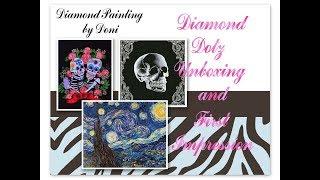 Diamond Painting Unboxing & NEW Drill Pens - Diamond Dotz - BFF, Starry Night, & Skeleton
