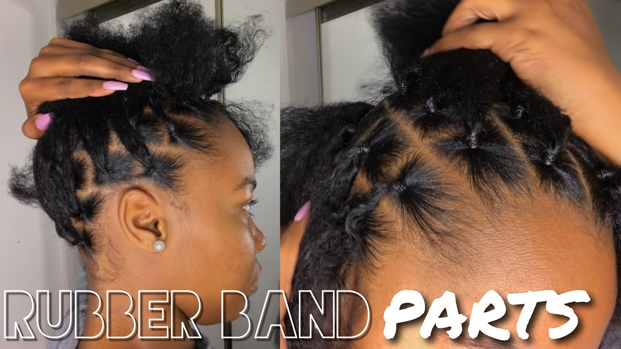 How To Part Hair Using Rubber Bands For Box Braids Passion Twist Etc Kinzey Rae Youtube