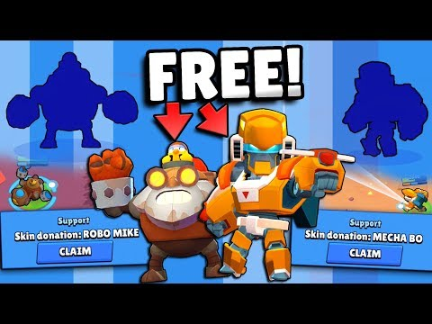 HUGE FREE ROBO MIKE & MECHA BO SKIN GIVEAWAY & UNLOCKING + NEW SKIN GAMEPLAY IN BRAWL STARS!