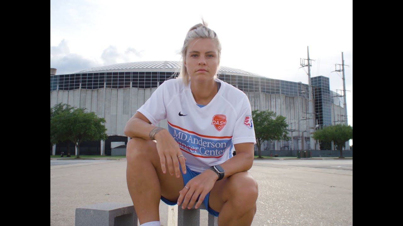 Houston Dash forward Rachel Daly shares what it means to wear MD Anderson jersey