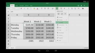 Excel for Android tablet: Getting started