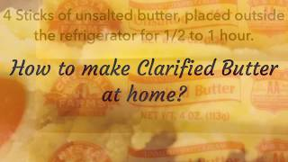 How to make clarified butter at home? | Sindhu's Kitchen Recipes | How to make ghee at home? | Nei