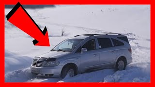 Ssangyong rodius vs extreme snow offroad drifting test!!!