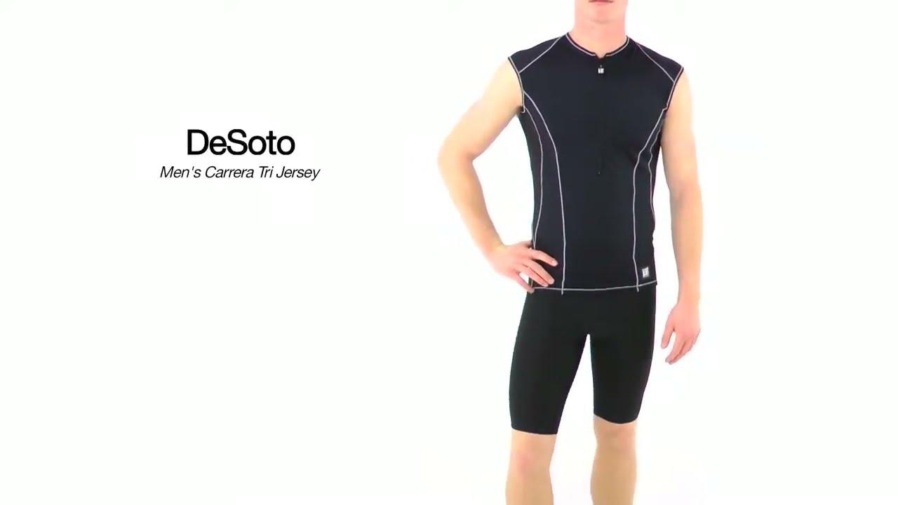 DeSoto Men/'s Carrera Triathlon Jersey