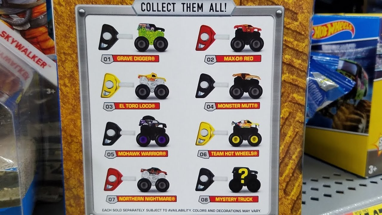 2017 Hot Wheels Monster Jam Mystery Models Youtube