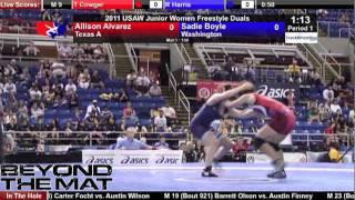 Junior Duals RR1 130 - Allison Alvarez (TX) vs. Sadie Boyle (WA)