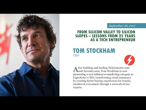 Tom Stockham - Silicon Slopes Lecture Series