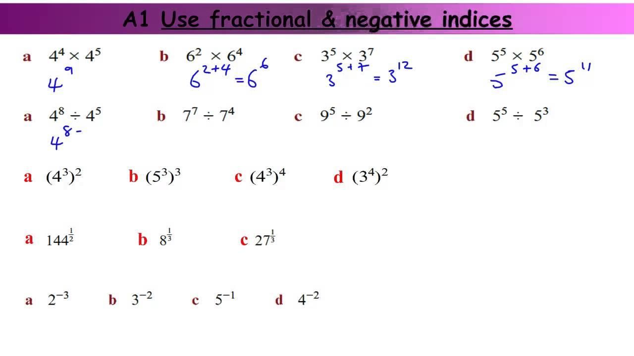 fractional and negative indices worksheet exponents and radicalsfractional negative indices by. Black Bedroom Furniture Sets. Home Design Ideas