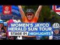 Lexus Of Blackburn Women's Herald Sun Tour 2020 Stage 1 HIGHLIGHTS   Shepparton to Shepparton