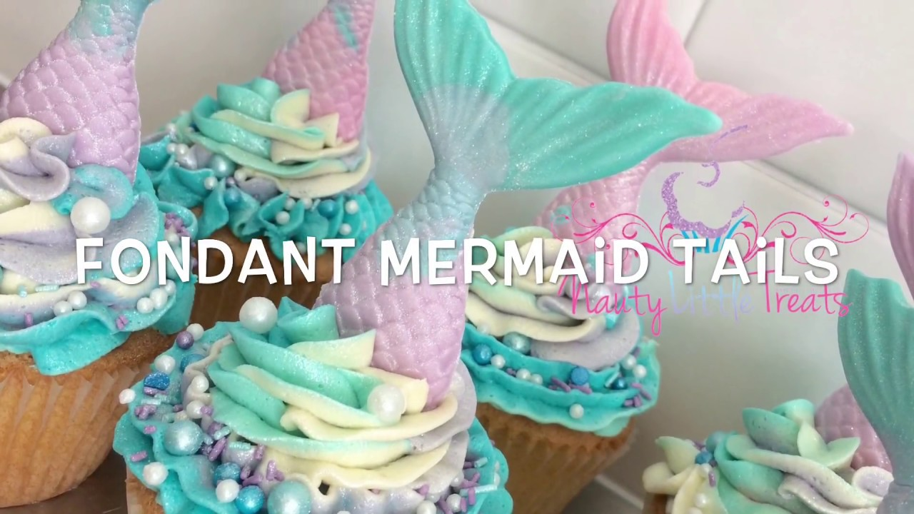 How to make a multi tone fondant mermaid tail YouTube