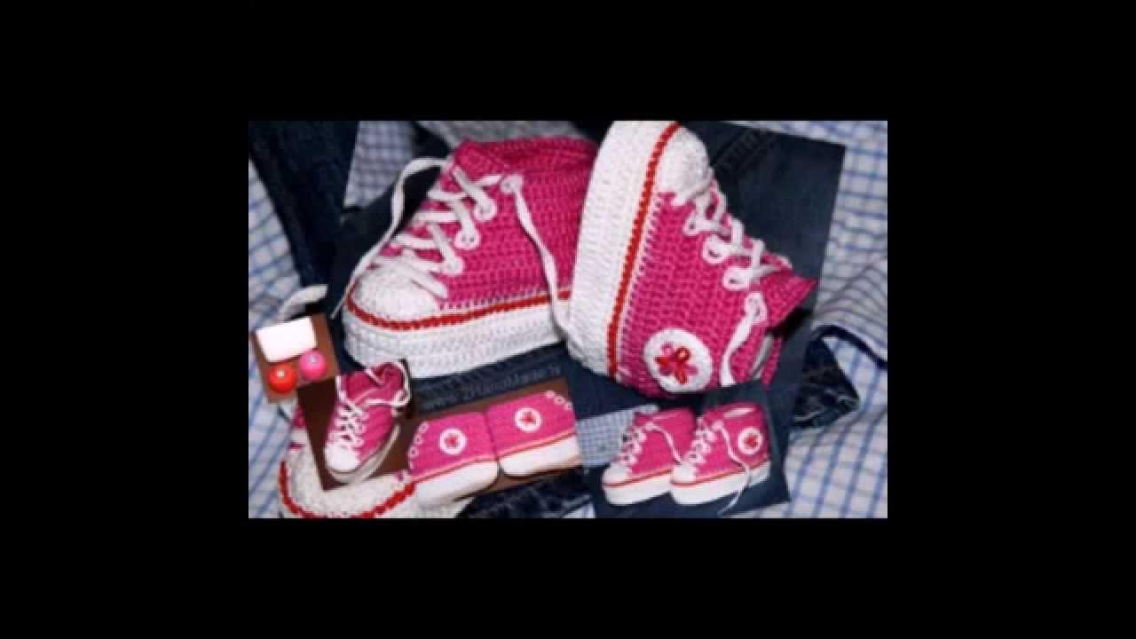 пинетки кросовки связаные крючком схема фото