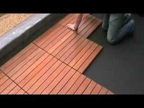 Installation Of Eco Decking Tiles Eduk Youtube
