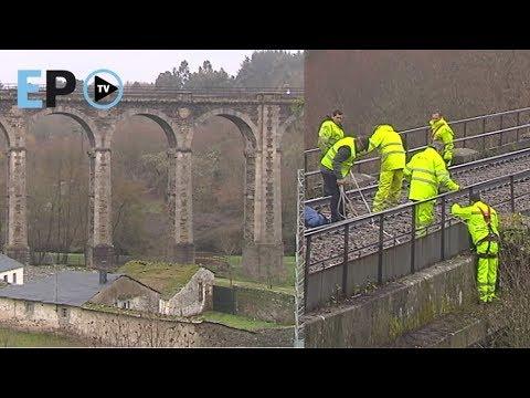 Adif acondiciona el puente del tren de A Chanca
