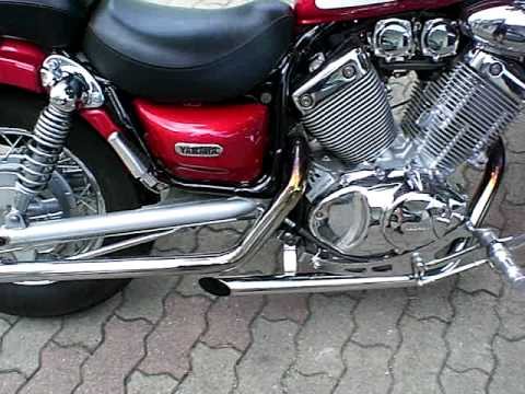 Yamaha virago scarico dragon pipes youtube