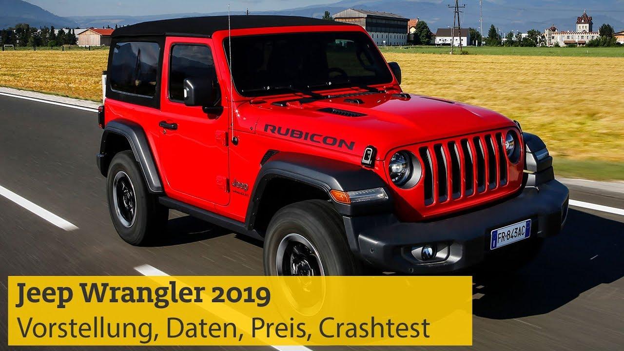 jeep wrangler 2019 vorstellung daten motoren preis